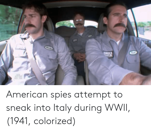 Colorized: DER American spies attempt to sneak into Italy during WWII, (1941, colorized)