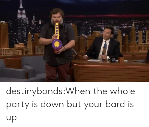Party: destinybonds:When the whole party is down but your bard is up