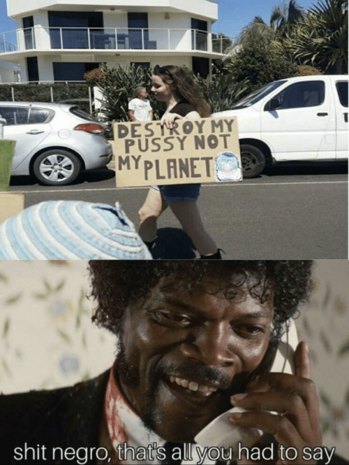 My Pussy: DESTROY MY  PUSSY NOT  MYPLANET  shit negro, thats all you had to say