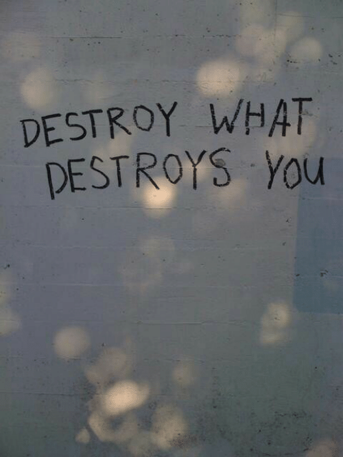 You, What, and Destroy: DESTROY WHAT  DESTROYS You