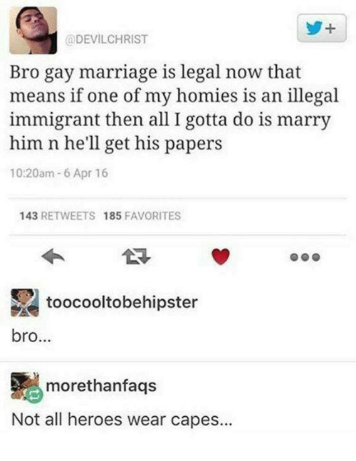 gay marriage is legal now