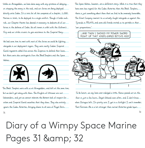 pages: Diary of a Wimpy Space Marine Pages 31 & 32