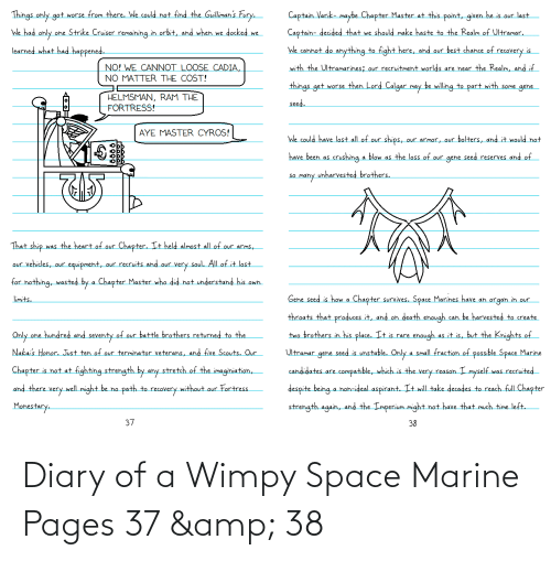 pages: Diary of a Wimpy Space Marine Pages 37 & 38