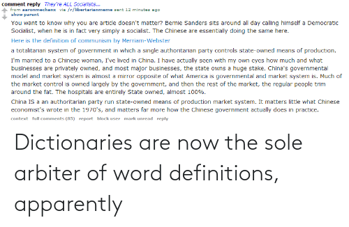 arbiter: Dictionaries are now the sole arbiter of word definitions, apparently