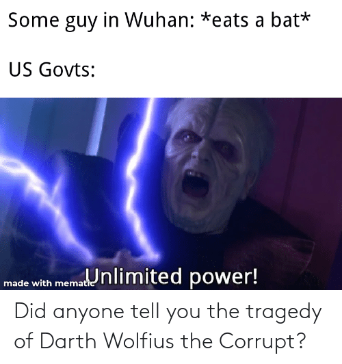 Corrupt: Did anyone tell you the tragedy of Darth Wolfius the Corrupt?