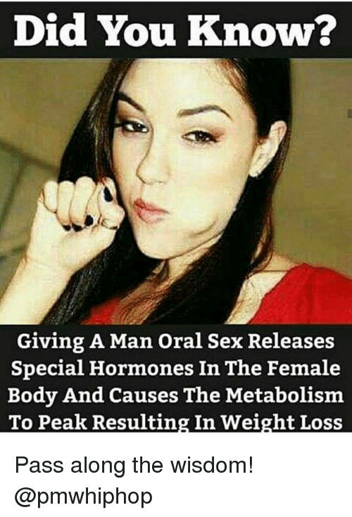 Did You Know Giving A Man Oral Sex Releases Special Hormones In The Female Body And Causes The -2533