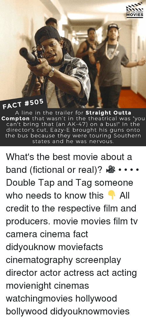 """Straight Outta Compton: DID YOU KNOW  MOVIES  FACT #505 