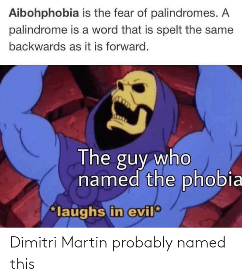 probably: Dimitri Martin probably named this