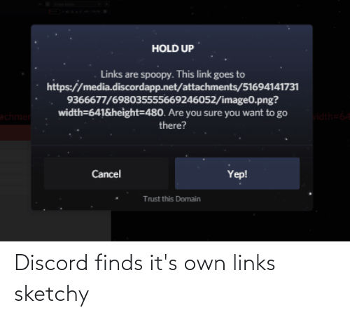 links: Discord finds it's own links sketchy