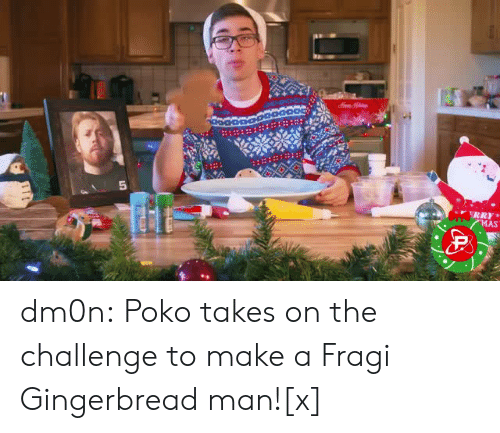 the challenge: dm0n:  Poko takes on the challenge to make a Fragi Gingerbread man![x]