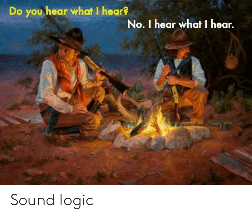 Logic, Sound, and You: Do you hear what I hear?  No. I hear what I hear. Sound logic