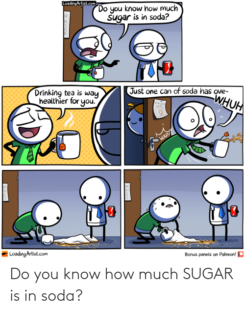 soda: Do you know how much SUGAR is in soda?