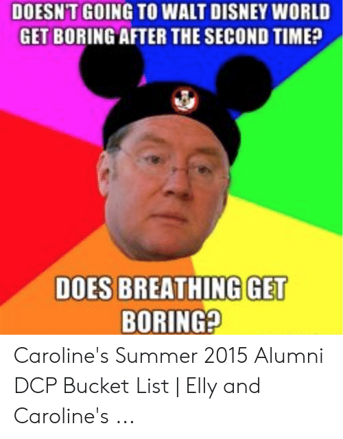 Reading Rainbow Meme: DOESN'T GOING TO WALT DISNEY WORLD  GET BORING AFTER THE SECOND TIME?  DOES BREATHING GET  BORING? Caroline's Summer 2015 Alumni DCP Bucket List | Elly and Caroline's ...