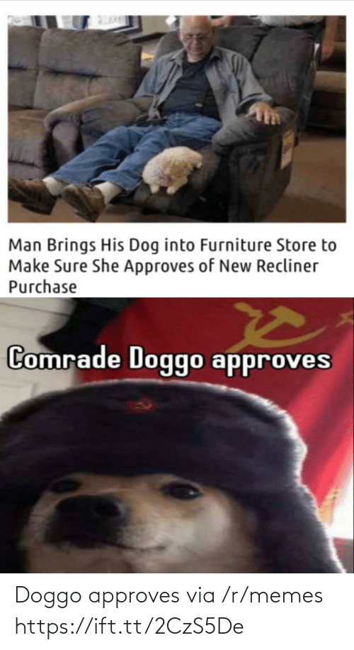 Approves: Doggo approves via /r/memes https://ift.tt/2CzS5De