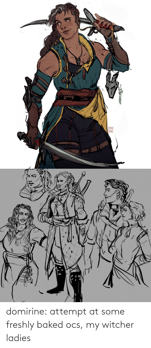 Baked: domirine:  attempt at some freshly baked ocs, my witcher ladies