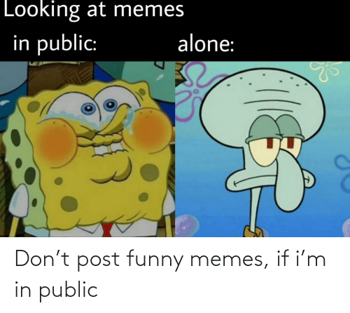 public: Don't post funny memes, if i'm in public