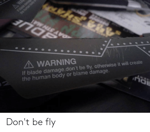 fly: Don't be fly