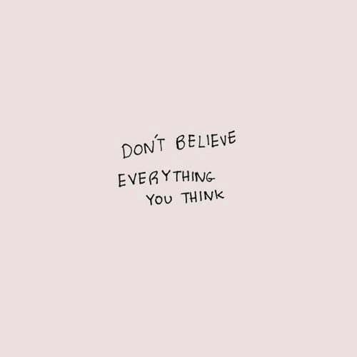 Dont Believe: DONT BELIEVE  EVERYTHING  You THINK