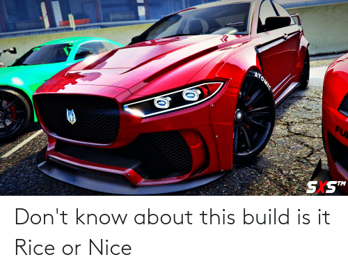 rice: Don't know about this build is it Rice or Nice