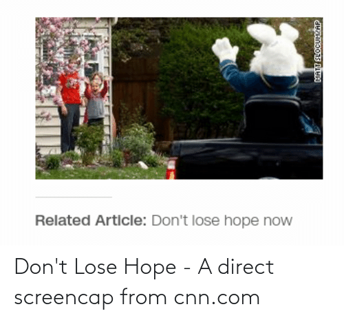 Direct: Don't Lose Hope - A direct screencap from cnn.com