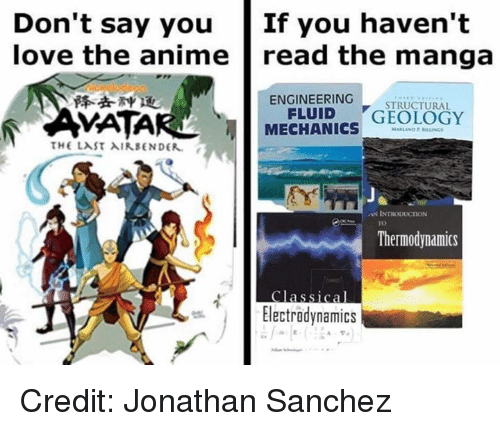 """Introduction: Don't say  youIf  you  haven't  love the anime  read the manga  降去神11  ENGINEERING  STRUCTURAL  VATAR  MECHANICS""""GEOLOGY  AN INTRODUCTION  TO  Thermodynamics  Classical  Electrodynamics Credit: Jonathan Sanchez"""