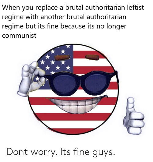 its fine: Dont worry. Its fine guys.