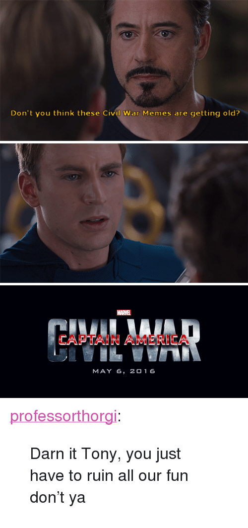 Don't You Think These Civil War Memes Are Getting Old? MARVEL