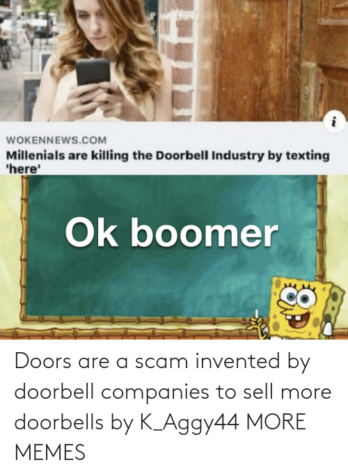 scam: Doors are a scam invented by doorbell companies to sell more doorbells by K_Aggy44 MORE MEMES