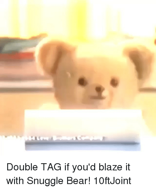 snuggle bear: Double TAG if you'd blaze it with Snuggle Bear! 10ftJoint