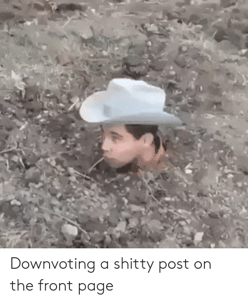 the-front-page: Downvoting a shitty post on the front page