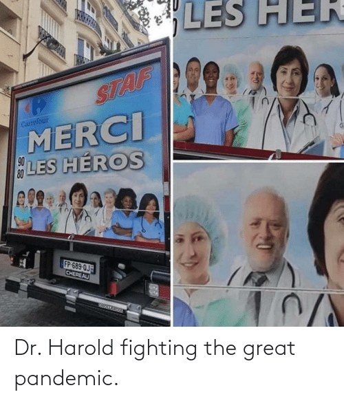 The Great: Dr. Harold fighting the great pandemic.