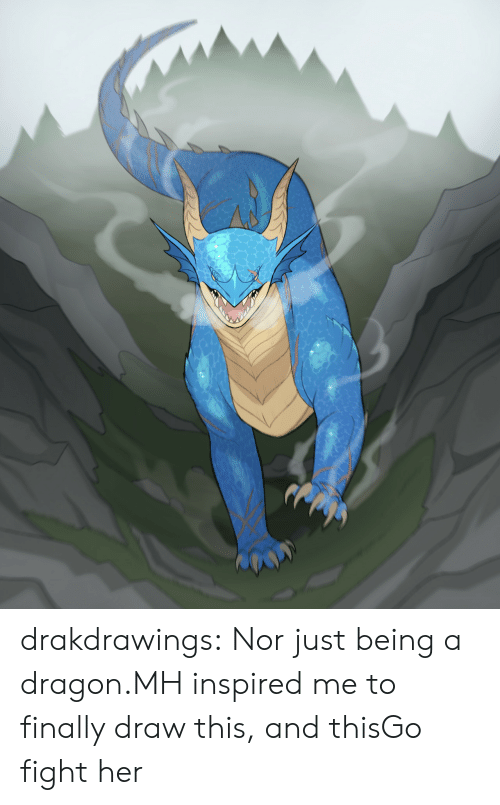 Tumblr, Blog, and Fight: drakdrawings:  Nor just being a dragon.MH inspired me to finally draw this, and thisGo fight her
