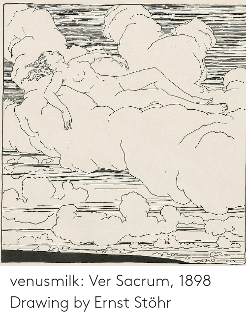 page: dreamste venusmilk:  Ver Sacrum, 1898 Drawing by Ernst Stöhr