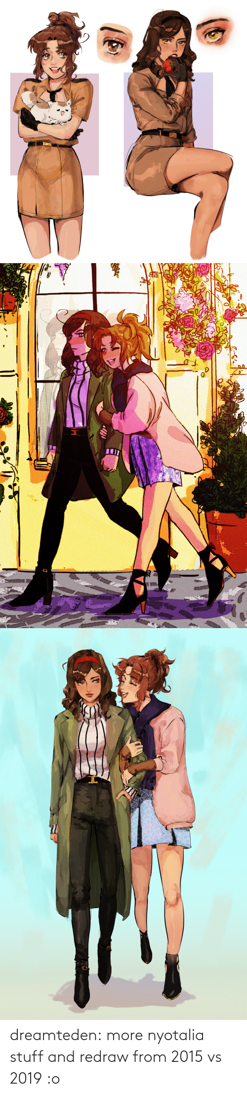 Stuff: dreamteden:  more nyotalia stuff and redraw from 2015 vs 2019 :o