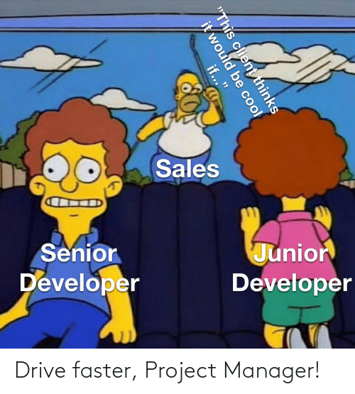 project: Drive faster, Project Manager!