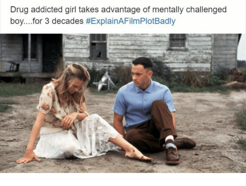 Explain a Film Plot Badly: Drug addicted girl takes advantage of mentally challenged  boy for 3 decades