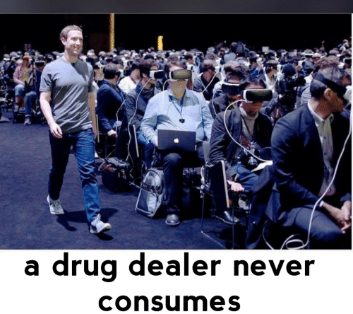 Drug: drug dealer never  consumes