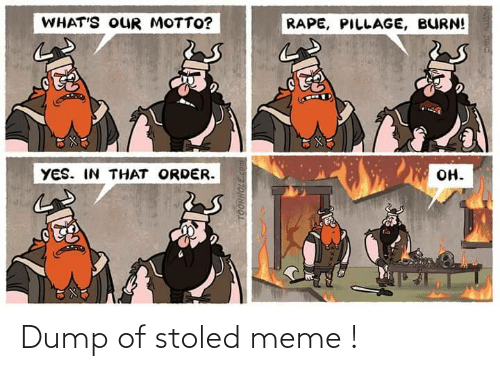 dump: Dump of stoled meme !