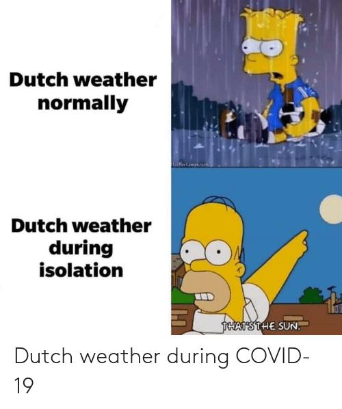 Weather: Dutch weather during COVID-19