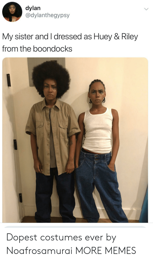 The Boondocks: dylan  @dylanthegypsy  My sister and I dressed as Huey & Riley  from the boondocks Dopest costumes ever by Noafrosamurai MORE MEMES