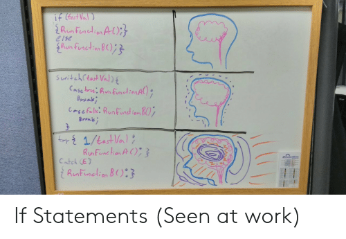 Work, Seen, and Hun: e1se  hun tunctien  Catel (E) If Statements (Seen at work)