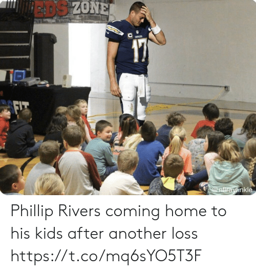 Football, Nfl, and Sports: EADS ZONE  a  @nfirayinkle Phillip Rivers coming home to his kids after another loss https://t.co/mq6sYO5T3F