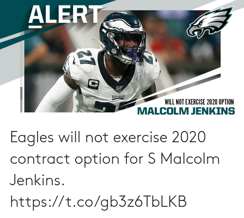 Philadelphia Eagles: Eagles will not exercise 2020 contract option for S Malcolm Jenkins. https://t.co/gb3z6TbLKB