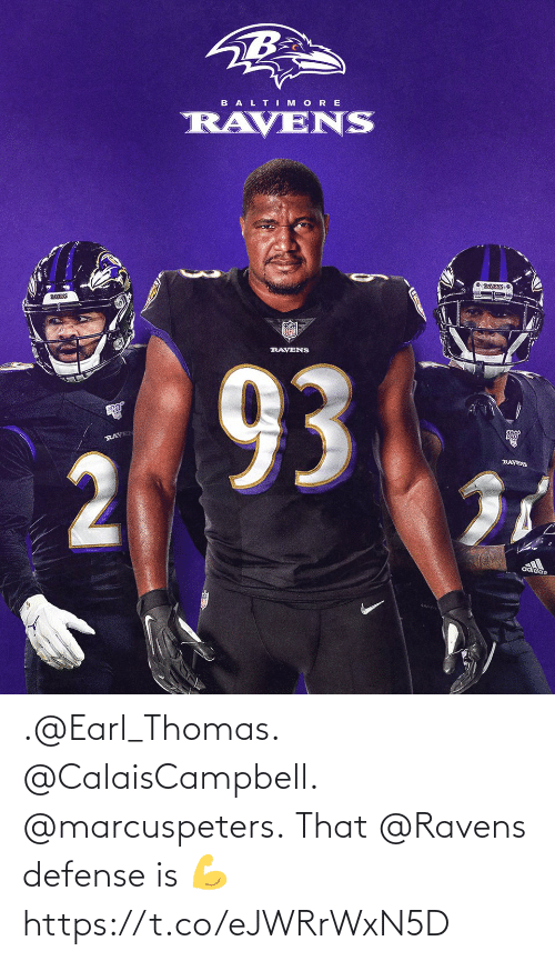 defense: .@Earl_Thomas. @CalaisCampbell. @marcuspeters.  That @Ravens defense is 💪 https://t.co/eJWRrWxN5D