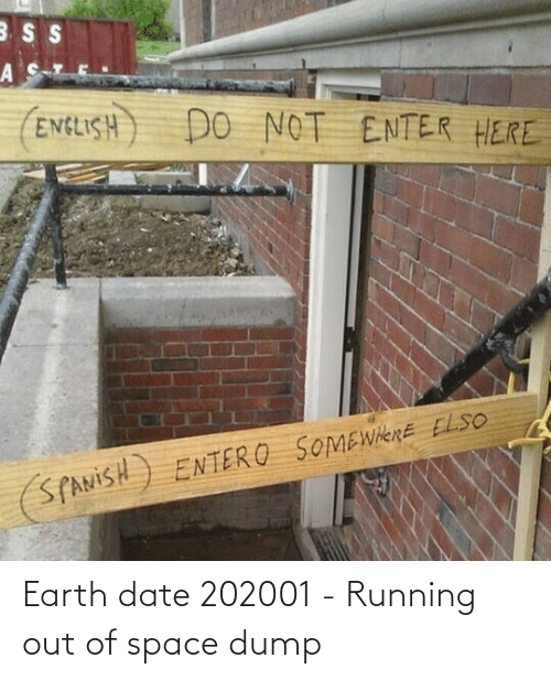 dump: Earth date 202001 - Running out of space dump