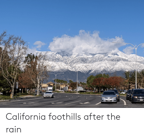 Eas: EAS California foothills after the rain