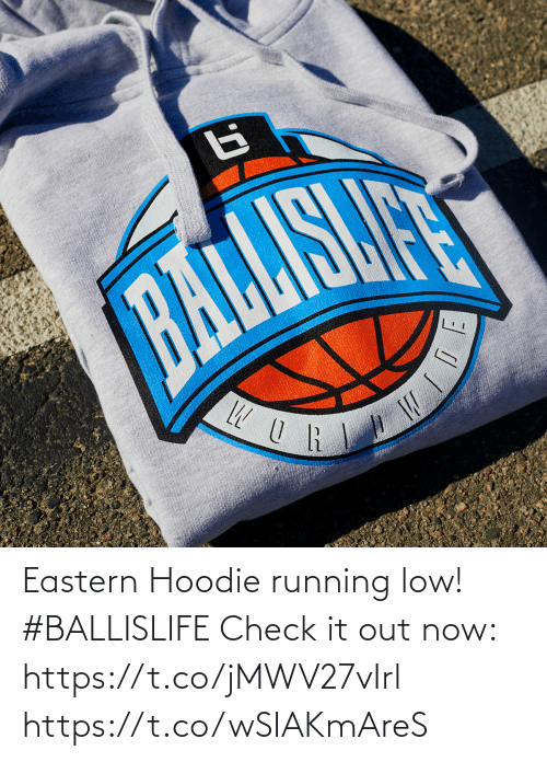 Low: Eastern Hoodie running low! #BALLISLIFE   Check it out now: https://t.co/jMWV27vIrl https://t.co/wSIAKmAreS