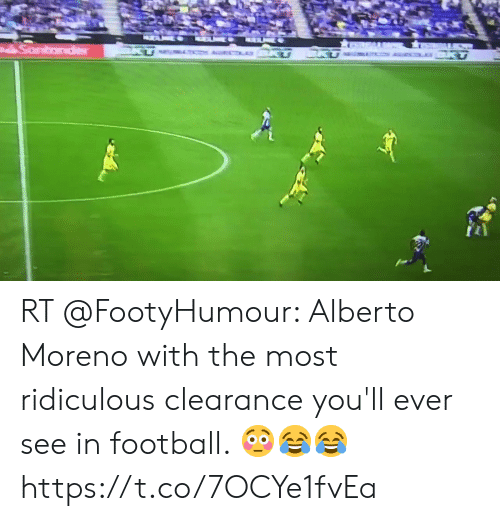 Football, Soccer, and Ridiculous: ecLO KT  ACLAY BKU  Sontader RT @FootyHumour: Alberto Moreno with the most ridiculous clearance you'll ever see in football. 😳😂😂 https://t.co/7OCYe1fvEa