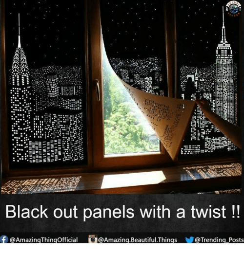 With A Twist: EE  Black out panels with a twist  f AmazingThingofficial ru@Amazing Beautiful Things  Trending Posts