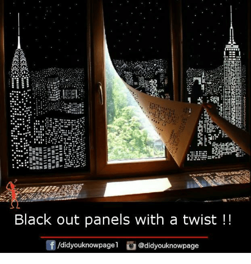 With A Twist: EE  Black out panels with a twist  Of /didyouknowpage  i @didyouknowpage